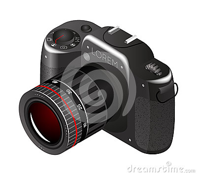 Free Vector Digital Photo Camera Royalty Free Stock Images - 55138089