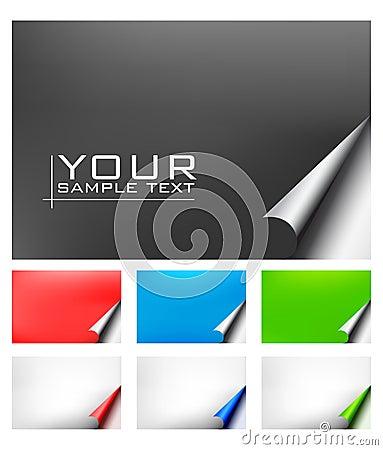 Vector document met realistische paginakrul