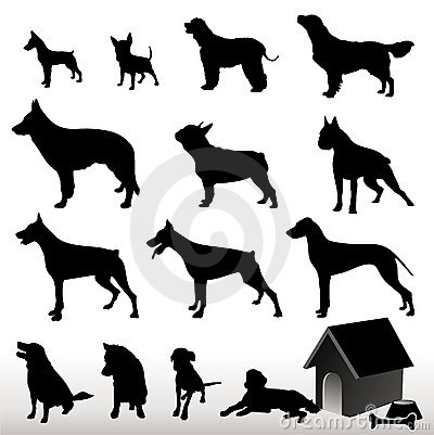 Free Vector Dog Silhouettes Stock Image - 1783531