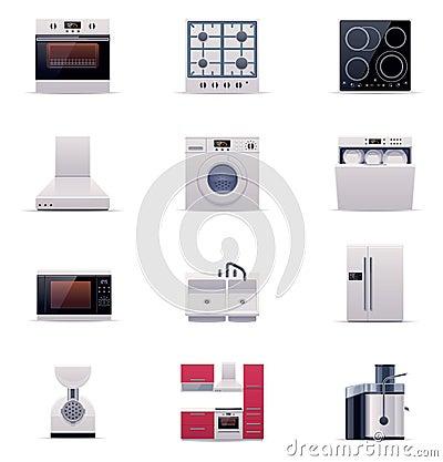 Vector domestic appliances set. Part 1
