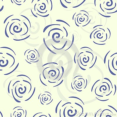 Vector doodle seamless pattern with flowers