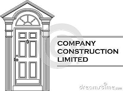 Vector door icon company logo