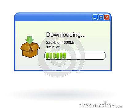 Vector download window progress