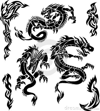 Free Vector Dragon Icons Royalty Free Stock Photography - 2242167
