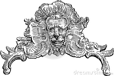 Baroque decorative element