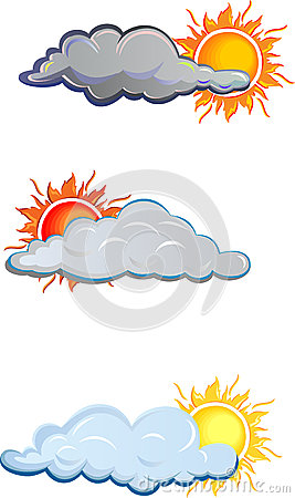 Free Vector Drawing Of Clouds And Sun Royalty Free Stock Photo - 59029095