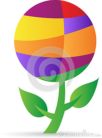 Abstract globe plant