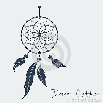 Free Vector Dream Catcher Black Royalty Free Stock Photography - 49842437
