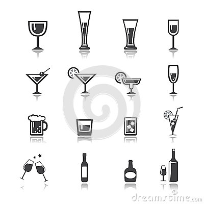 Free Vector.drink Icon Set Royalty Free Stock Image - 45563516