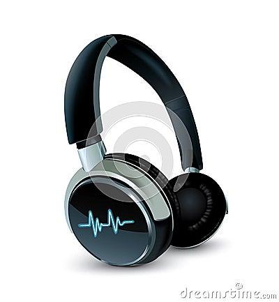 Vector earphones Vector Illustration