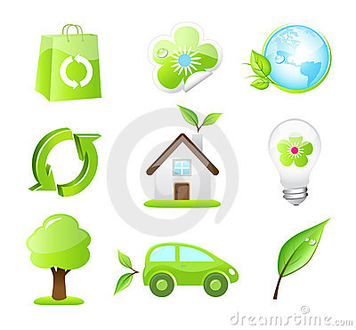 Vector eco friendly icons