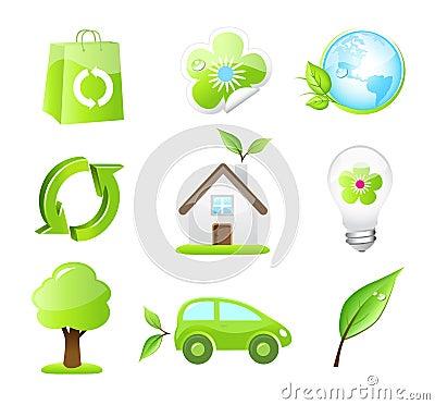 Vector eco friendly icons