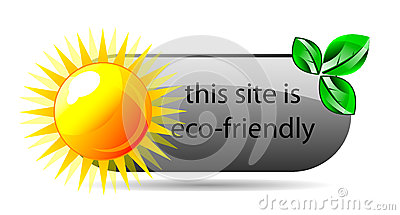 Vector eco friendly website icon