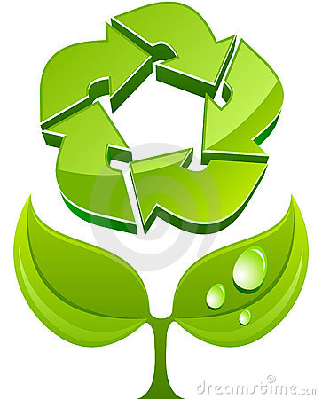 Vector eco sign