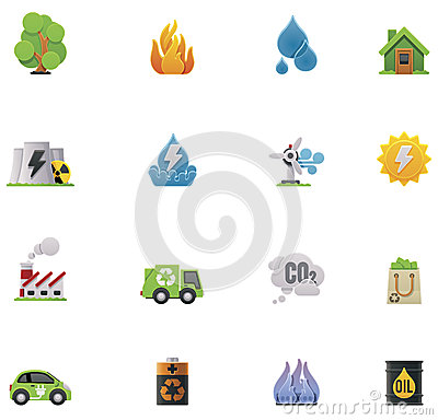 Vector ecology icon set