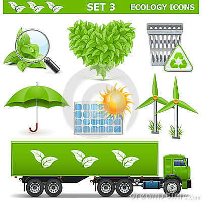 Free Vector Ecology Icons Set 3 Stock Photo - 40138780