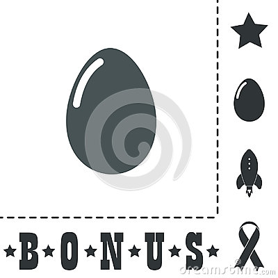Vector egg icon. Eps10. Easy to edit Vector Illustration