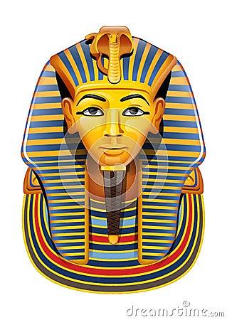 Vector Egypt Pharaon Mask Royalty Free Stock Photo - Image