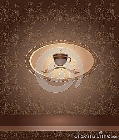 Vector del café del menú