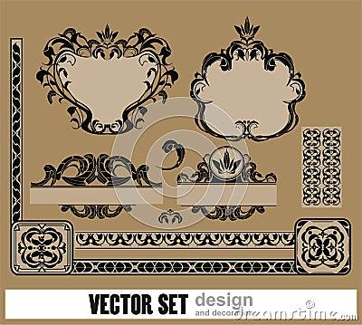 Vector el conjunto de la decoración