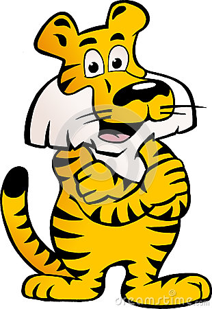 Vector el ejemplo de un tigre siberiano feliz y orgulloso