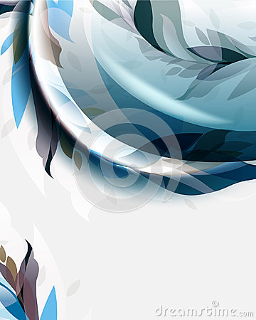 Vector elegant abstract foliage wave elements temp