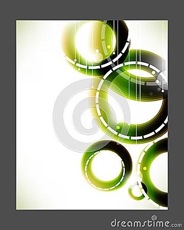 Vector elegant green rings background
