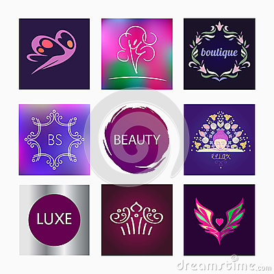 Vector element design se logos for beauty salon stock for Element decoration salon