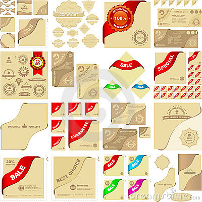 Vector elements for sale.