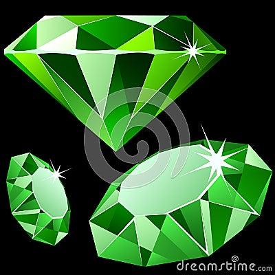 Vector emerald.