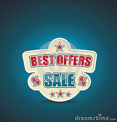 Vector emlbem for best offer.