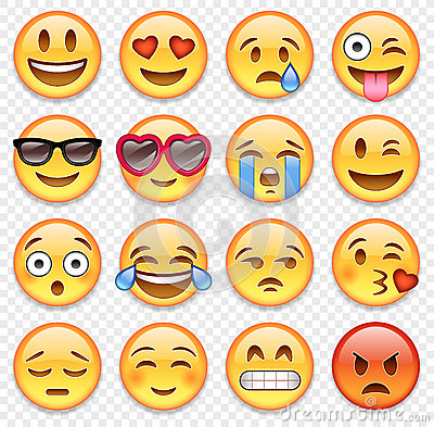 Vector emoticons collection Vector Illustration