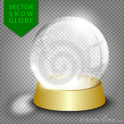 Free Vector Empty Christmas Snow Globe Royalty Free Stock Images - 62724139