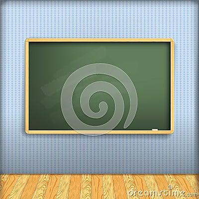 Vector: empty school blackboard
