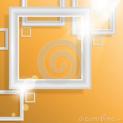 Vector empty square frame elements background
