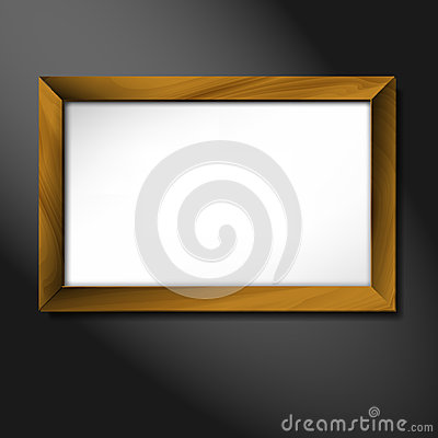 Vector empty wooden frame illustration