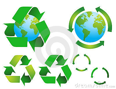 Vector environmental conservation symbols