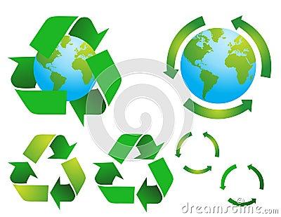 Vector Environmental Conservation Symbols
