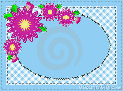Vector Eps 10 Oval Blue Copy Space, with Stitching