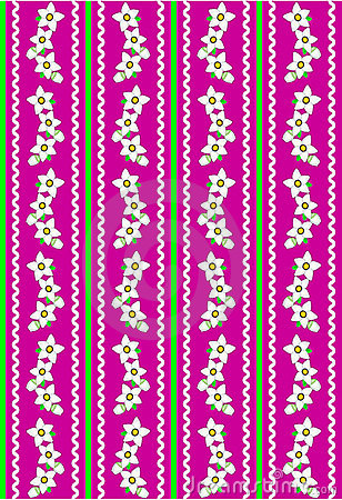 Vector Eps 10 Pink Wallpaper with White Flowers an