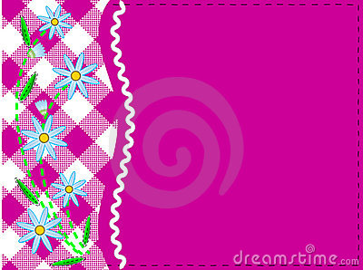 Vector Eps 8 Pink Copy Space with Gingham and Corn