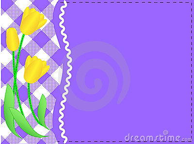 Vector Eps10 Purple Copy Space, Gingham and Yellow