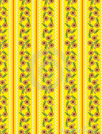 Vector Eps10 Yellow Wallpaper Pattern with Orange