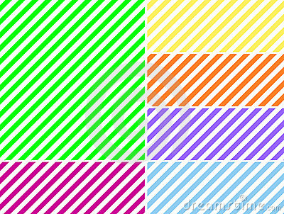 Vector EPS8 Diagonal Striped Background in Six Col