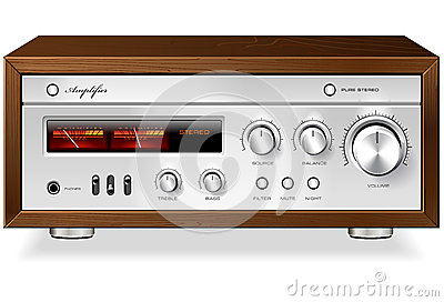 Vector estéreo análogo de alta fidelidad del amplificador del vintage