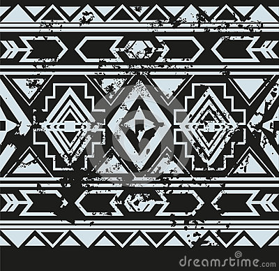 vector ethnic seamless pattern with american stock vector