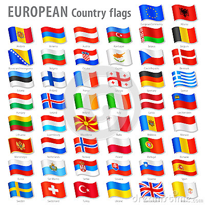 Free Vector Europe National Flag Set Royalty Free Stock Photo - 37609245