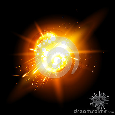 Free Vector Explosion! Royalty Free Stock Photography - 26272747