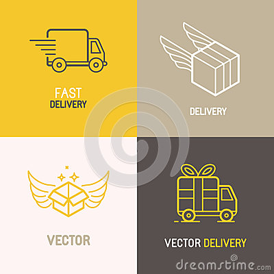 Free Vector Express Delivery Service Logo Royalty Free Stock Images - 59164359