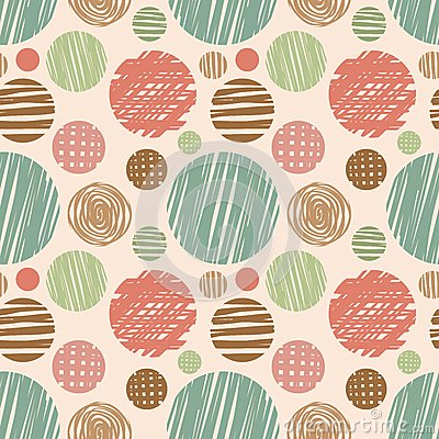 Free Vector Fabric Circles Abstract Seamless Pattern Royalty Free Stock Photos - 47986518
